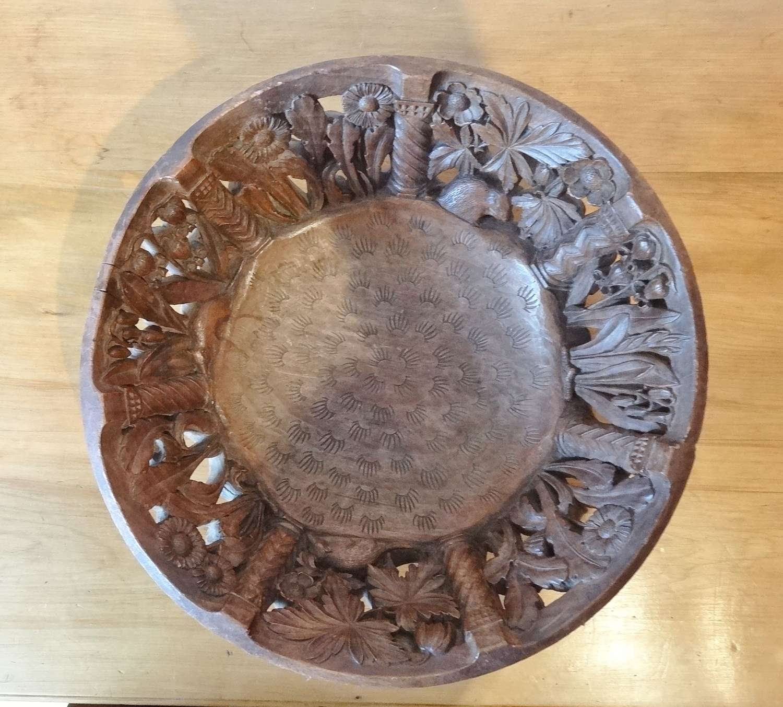 Rare Arts & Crafts Robert Weir Schultz carved Joseph Armitage bowl