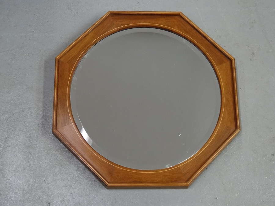 Edward Barnsley Cotswold School octagonal walnut mirror