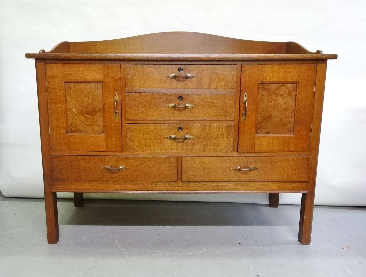 Arthur Simpson of Kendal Arts & Crafts oak sideboard