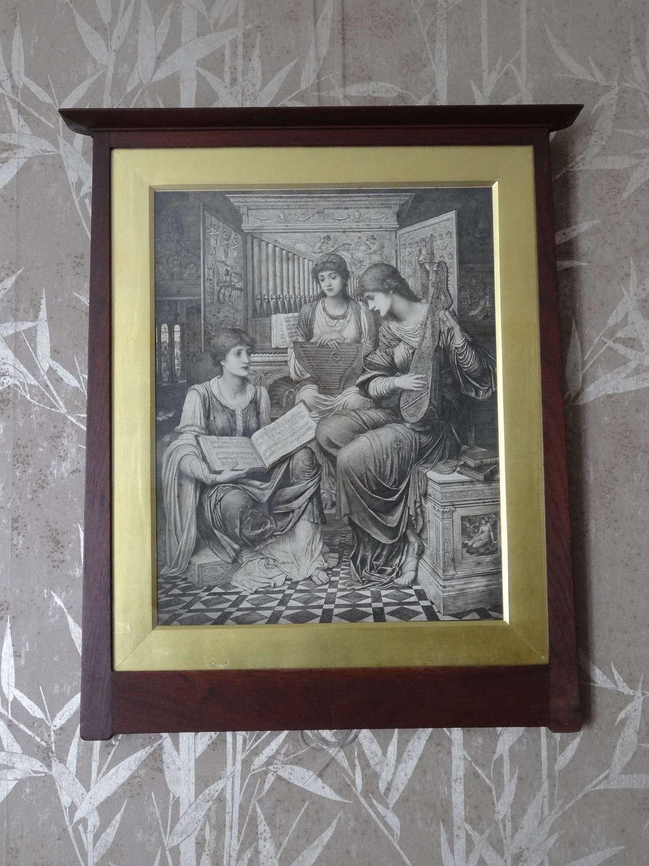 John Melhuish Strudwick original framed pre raphaelite print