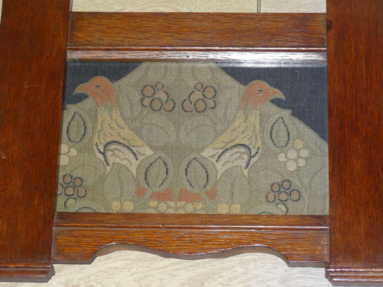 Charles Francis Annesley Voysey Arts & Crafts framed bird textile