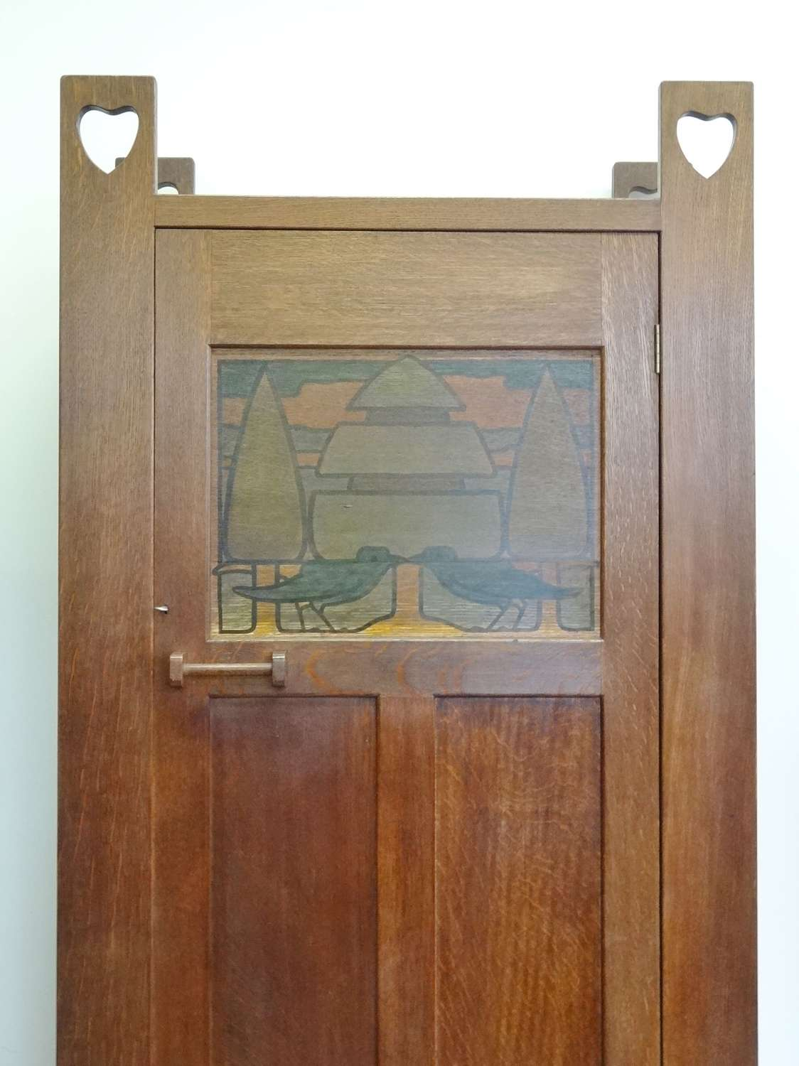 Rare Liberty & Co Arts & Crafts Athelstan Wyburd Voyseyesque wardrobe