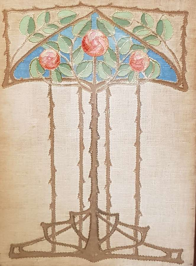 Ann Macbeth Glasgow Style needlework panel