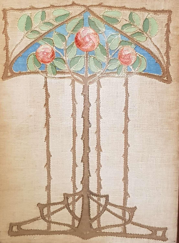 Ann Macbeth Glasgow Style needlework panel