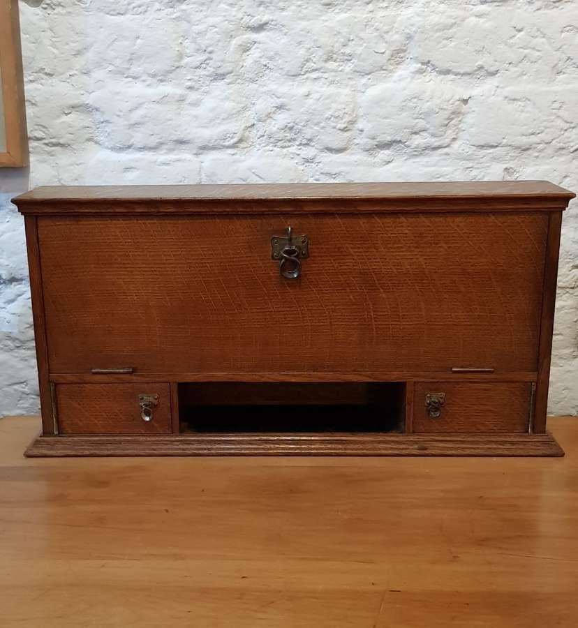Arts & Crafts Arthur Simpson of Kendal oak stationery cabinet