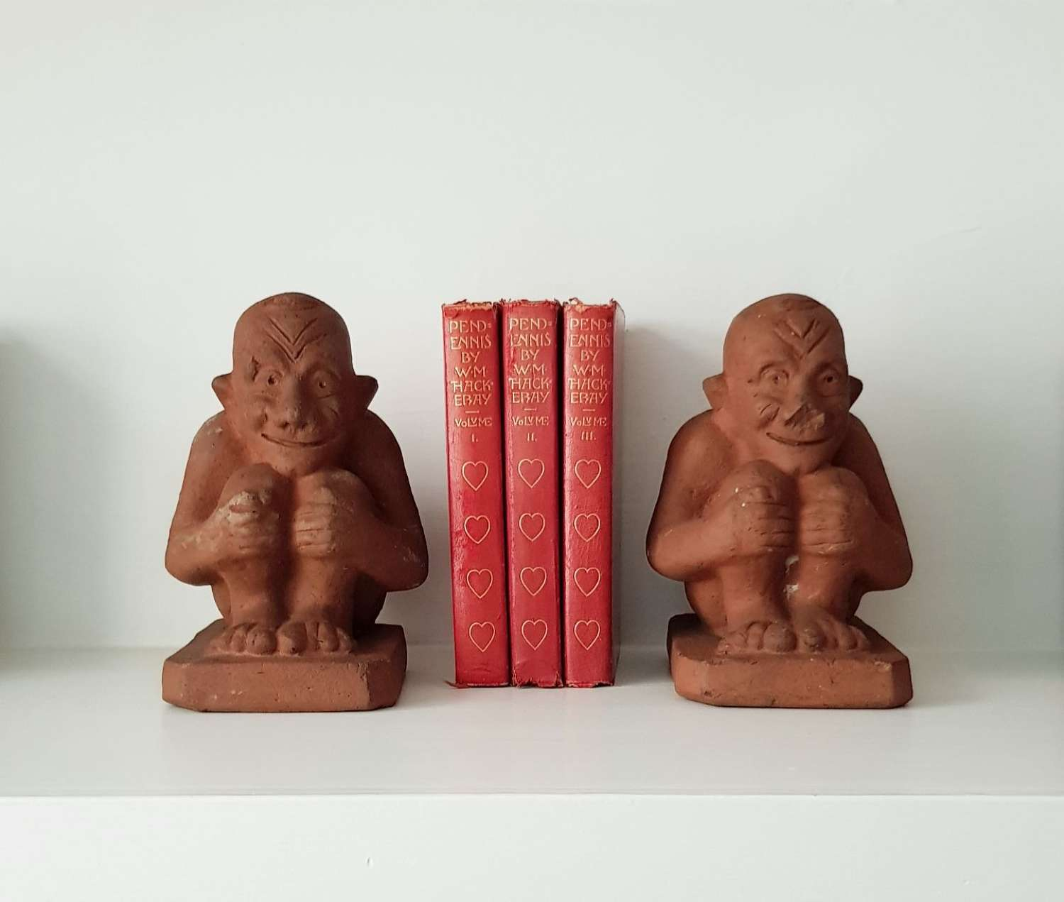 Arts & Crafts terracotta imps bookends Stonehouse Brick & Tile Co