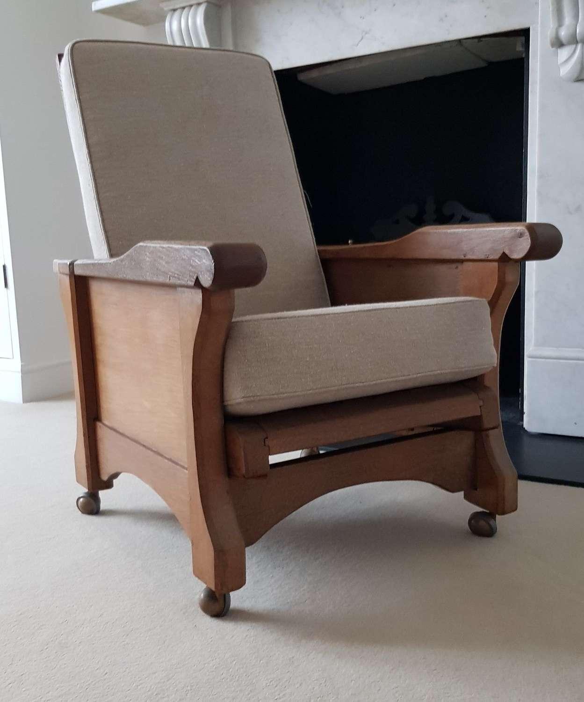 Robert Thompson Mouseman style oak recliner