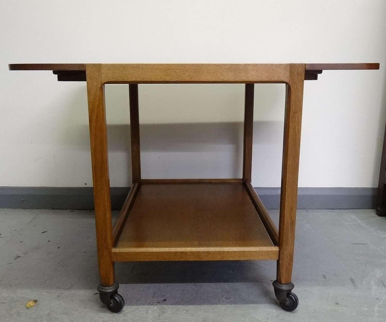 Stanley Webb Davies Cotswold School Arts & Crafts oak trolley table