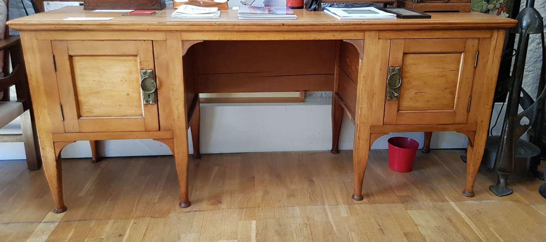 Unusual Arts & Crafts Birmingham Guild of Handicraft large desk