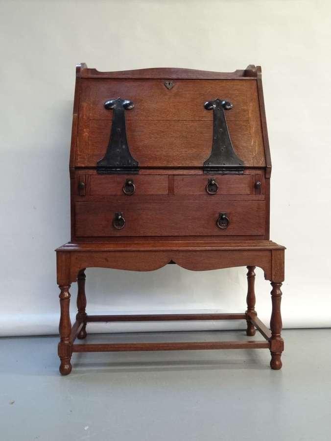 Rare early Ambrose Heal Guild of Handicraft Arts & Crafts oak bureau
