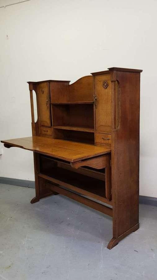 Arthur Simpson of Kendal Arts & Crafts desk bureau cabinet